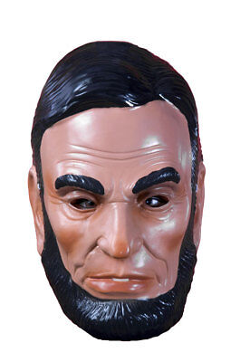 Abe Lincoln Mask Plastic Half President Costume Accessory Pvc Patriotic History