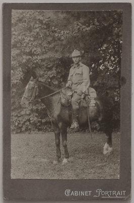 Großes Vintage, Kab. Karte 1915 Militär hoch zu Ross, Kavallerie, 1. Weltkrieg