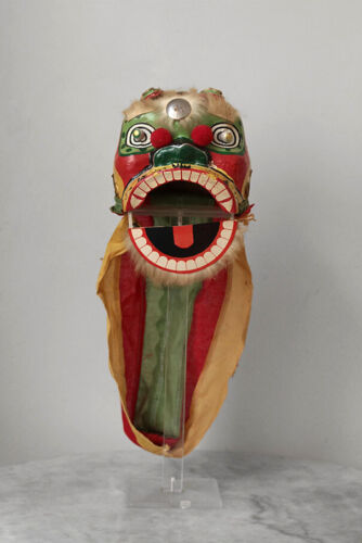 Older Chinese dragon mask from paper mache