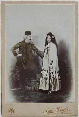 Original vintage 1900s CC Bosnian couple in Art Nouveau costume - Original Couple Costume