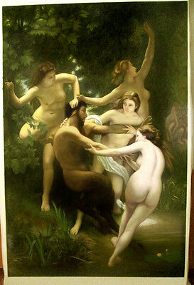Ölbilder Ölgemälde Gemälde Nymphs and Satyr von William A.Bouguereau 80 cmx 60cm