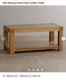 Oak coffee table- still in box