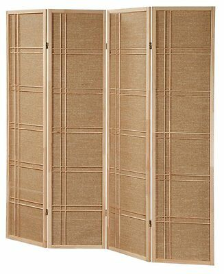 3 -4 Panel Rattan NOT Shoji Wooden Screen Room Dividers Natu