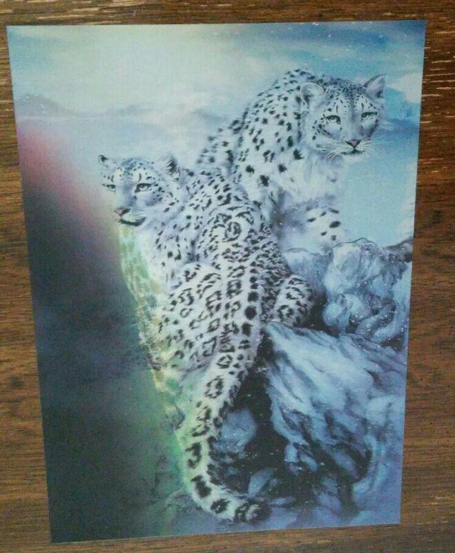 Snow leopard Lenticular art print