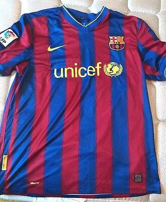 NIKE FC BARCELONA HOME  09- 10 JERSEY (STORMBLUE STORMRED YELLOW) 520d4e6f66d44