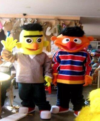 Bert Mascot Costume Sesame Street Party Character Birthday Halloween - Bert Sesame Street Costume