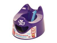 Brand new purple Pourty potty - in packaging
