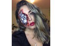 Halloween professional makeup