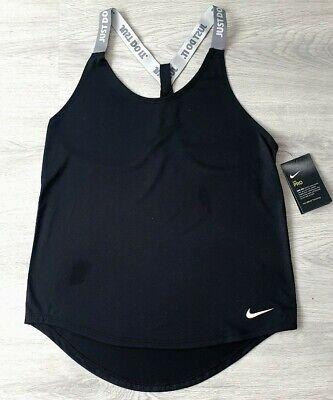 Womens Black Nike Pro Dri-fit Running Gym Yoga Racer Back Top Size Small BNWT