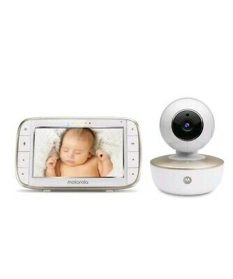 "Motorola MBP855S Wi-Fi Connect Pan & Tilt Video Baby Monitor Camera 5"" Display"