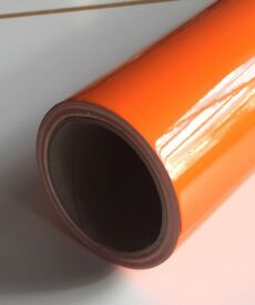 Orange window / signage adhesive vinyl.