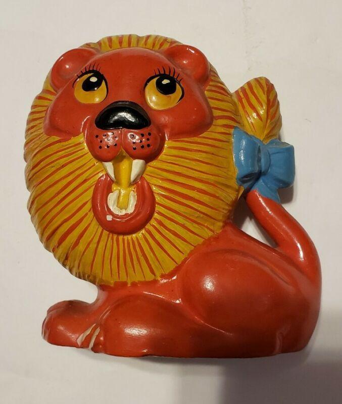 Vintage Japan Ceramic Lion Bank