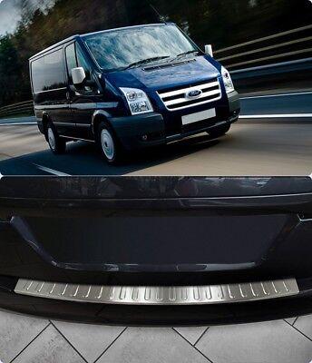 Ford Transit MK7 2006 2014 Chrome Rear Bumper Protector Scratch Guard SSteel