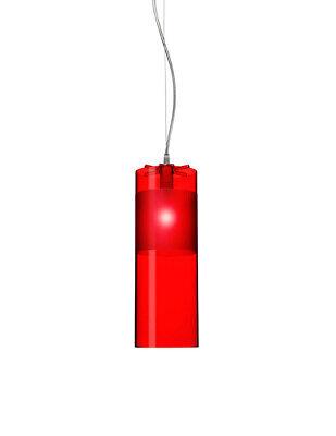 Italian Modern Kartell Red Easy Pendant Lamp Design: Ferruccio Laviani Pipe