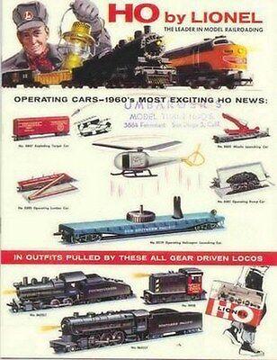1960 LIONEL TRAINS  HO CATALOG MINT (RS)