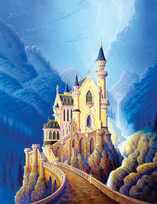 Castle Camelot Fairytale Prince Princess Bavaria Palace SIGNED Matted Souders - Prince Fairytale