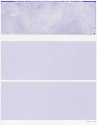 Blank Check Paper Stock Check On Top Purple Marble Count 500