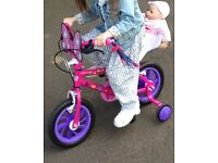 Minnie Mouse 12in Bike with Minnie ears helmet
