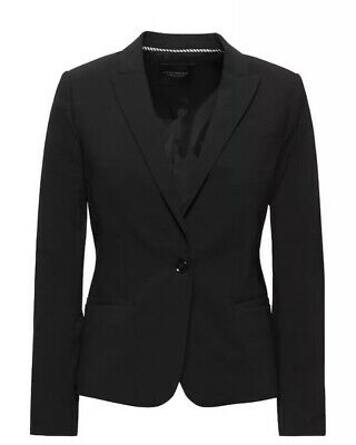 Banana Republic Classic-Fit Washable Italian Wool-Blend Blazer - Black NWT 4  Classic Wool Blazer