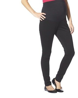 Liz Lange Maternity Over The Belly Ponte Leggings Pants women's Medium Black New
