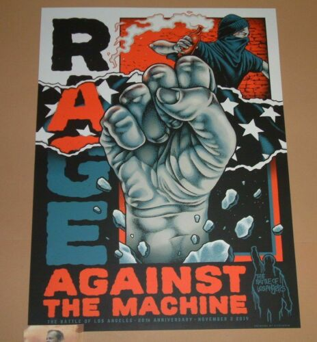 Rage Against The Machine Pitchgrim Battle Of Los Angeles Poster 20th Anniversary - $249.99