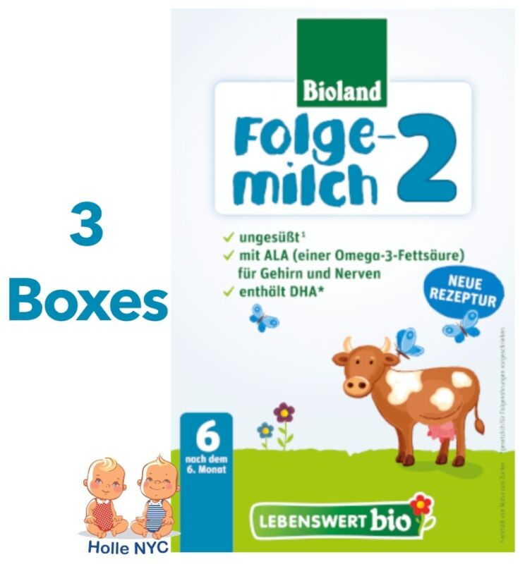 Holle Lebenswert Stage 2 Organic Infant Formula 3 Boxes 500g Free Shipping
