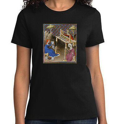 Medieval Ladies Weaving, Spinning & Combing, T-Shirt, All Sizes & Styles NWT