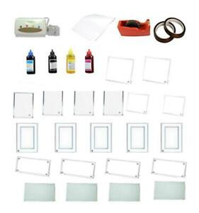 Crystal Photo Frame Thermal A4 Sublimation Paper Tape Ink Heating Transfer Material Kit-003405