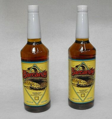 2 Pack Sugar Free Hazelnut Syrup 32oz. Coffee Drink Italian Soda Flavor
