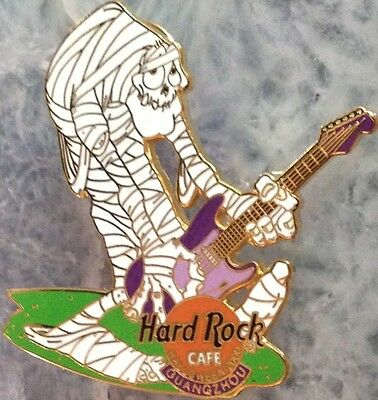 Hard Rock Cafe GUANGZHOU 2000 HALLOWEEN PIN Mummy with Guitar LE 300 - HRC #2731](Guangzhou Halloween)