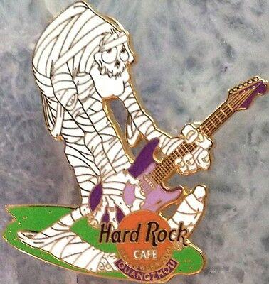 Hard Rock Cafe GUANGZHOU 2000 HALLOWEEN PIN Mummy with Guitar LE 300 - HRC #2731](Guangzhou Halloween)
