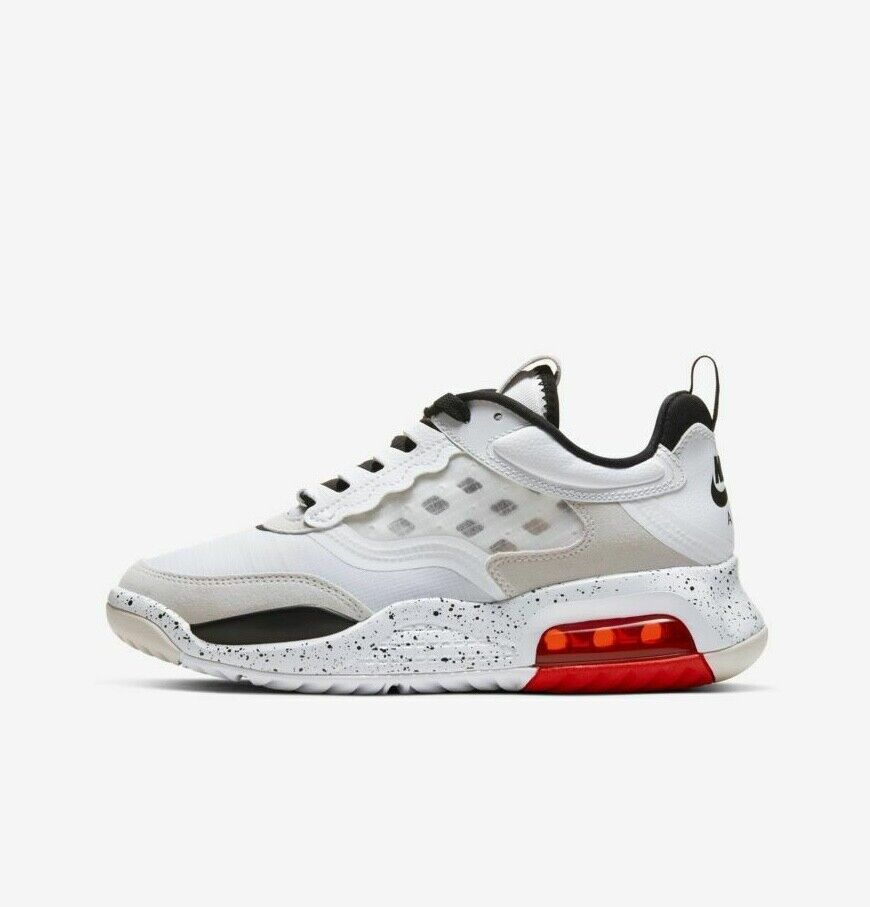 Air Jordan Max 200 (GS) CD5161-100 White Black Challenge Red Youth Boy's Shoes