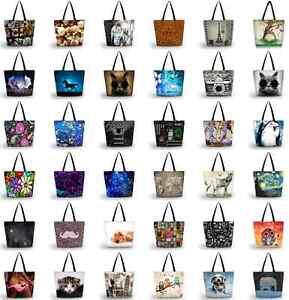 Lady-Women-039-s-Large-Capacity-Zipper-Handbag-Shopping-Bag-Tote-Shoulder-Beach-Bags