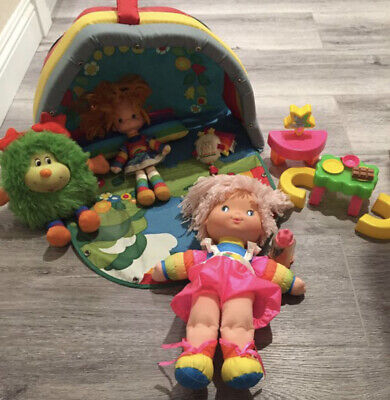 Vintage Mattel 1983 Rainbow Brite Color Playset And Dolls In Excellent Condition