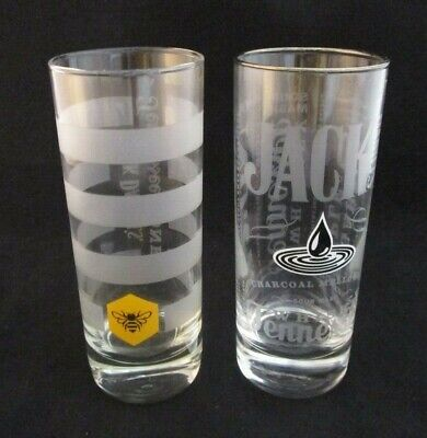 Used, Set of 2 JACK DANIELS TENNESSEE Honey & Sour Mash Whiskey Highball Glasses for sale  Encino