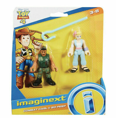 Disney Toy Story 4 - Combat Carl & Bo Peep NIB Imaginext Figures