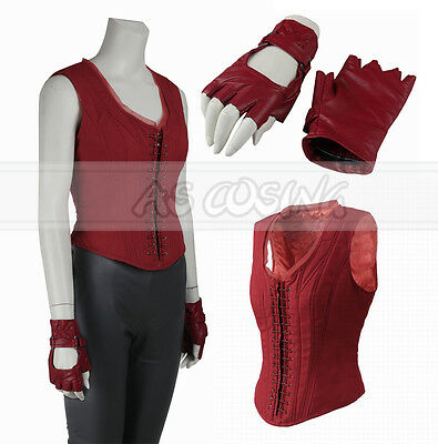 Captain America 3 Scarlet Witch Wanda Maximoff Cosplay Costume ( Vest + Gloves - Wanda Maximoff Costume