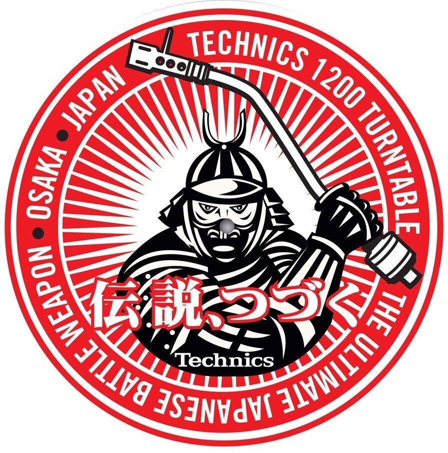 Slipmat Technics DMC Samurai DJ (1 Stück / 1 Piece) MSAM1 NEU!