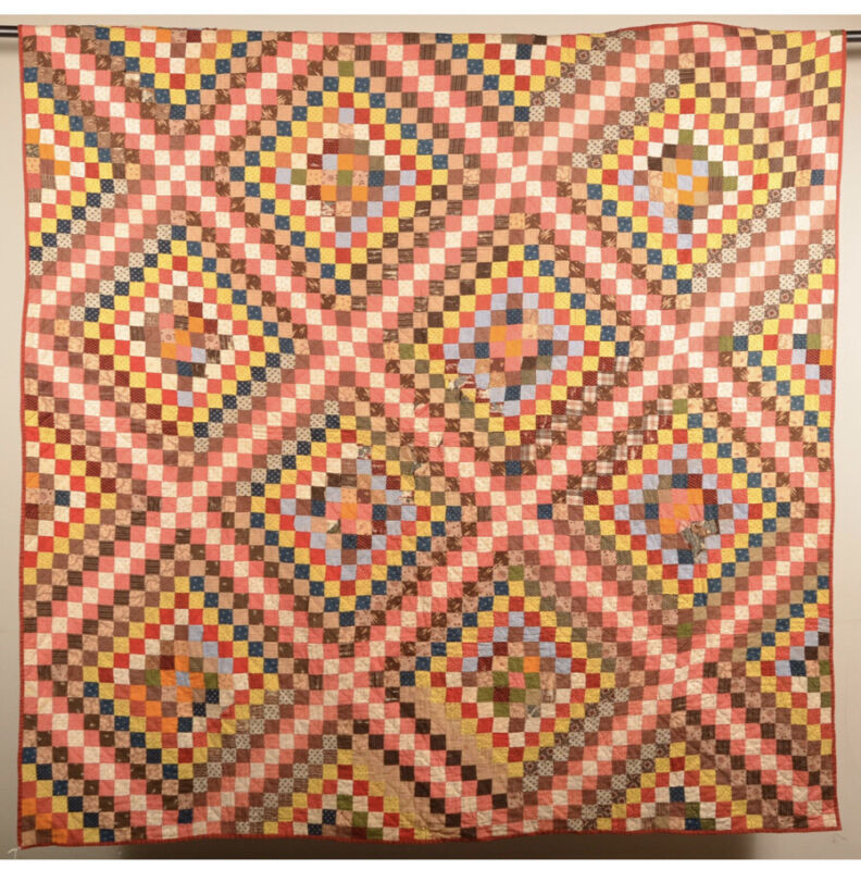 Antique Irish Chain Pattern Quilt