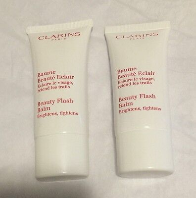 2x Clarins Beauty Flash Balm Brighten Tighten 30ml 1oz Each New Free Shipping