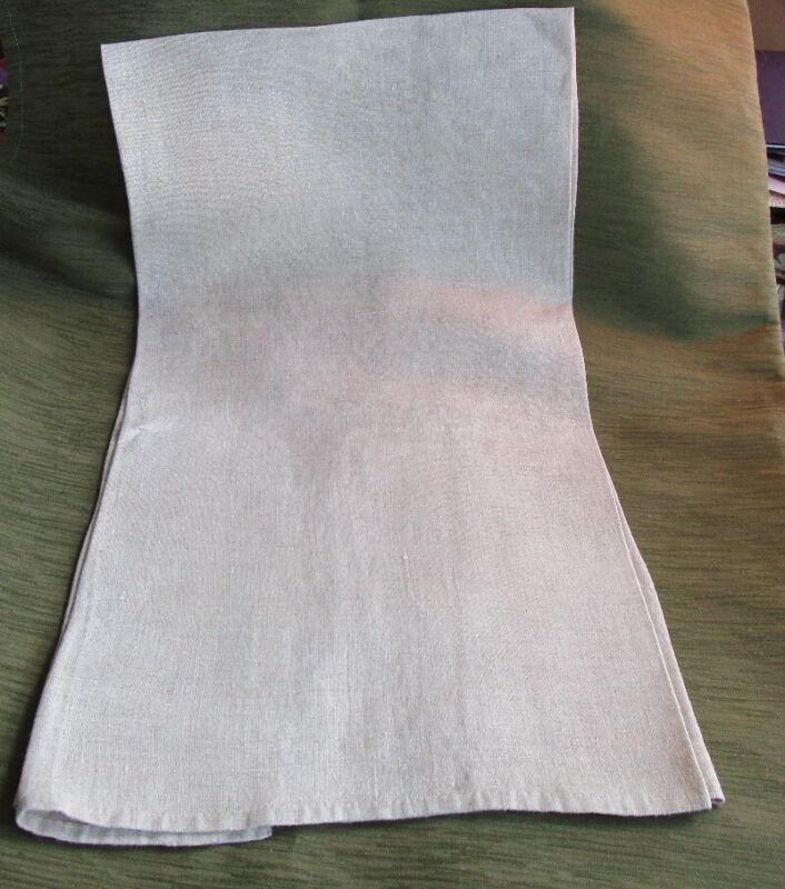 "Antique LINEN HOMESPUN TOWEL or table runner HAND MADE ~ 43"" x 20"" Lancaster PA"