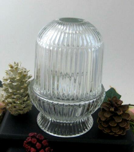 HOMCO Interiors clear Glass Fairy Lamp Candle Holder vintage