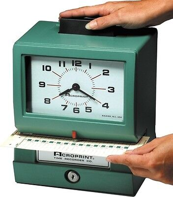 Acroprint Heavy Duty Time Clocks- Manual-125rr4 01-1070-41b Time Clocks New