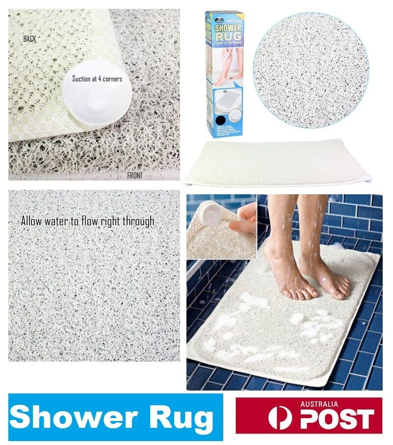 Shower Rug Bathmat Aqua Rug HYDRO Anti Slip Drain Away Shower Mat ...