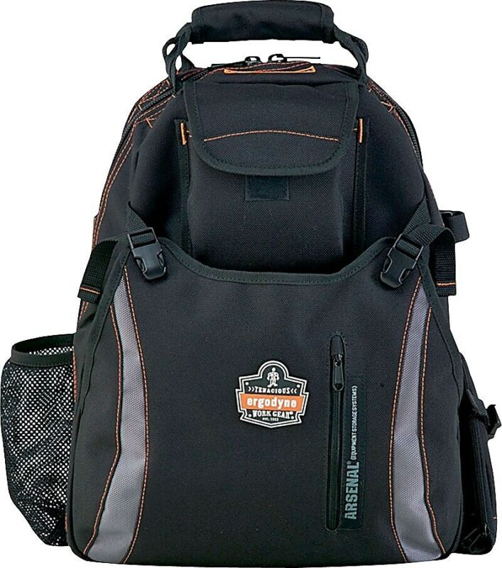 """Ergodyne Arsenal Tool Backpack With Dual Compart Gray 18""""H x 8 1/2""""W x 13 1/2""""L"""