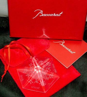 Baccarat Crystal Snowflake Christmas Ornament 2005 Limited Edition $120 NEWINBOX