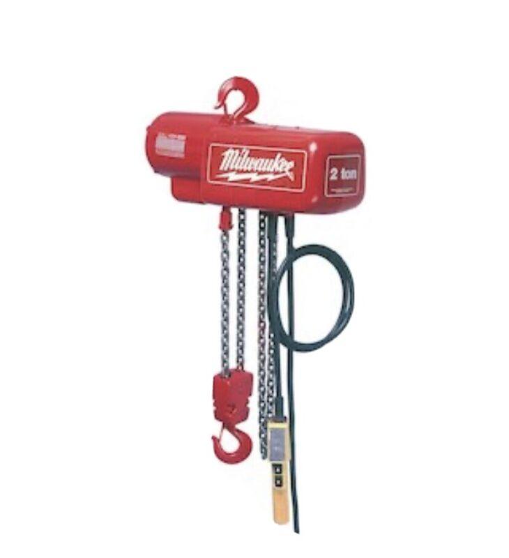 Milwaukee 9570 2 Ton Capacity 10-Foot Lift Electric Chain Hoist - Bare Tool