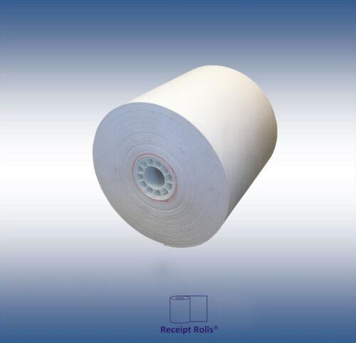 """3"""" x 190 1-ply Bond Kitchen Printer Receipt Paper Rolls, 50 Rolls per case"""
