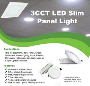 3 Colors in 1 LED Panel Light, CCT Controllable with Switch