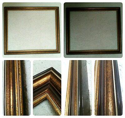 Bilderrahmen Alt Gold Farben Echt Holz ca. 50x60 cm Falzmass Art Barock dunkel!!